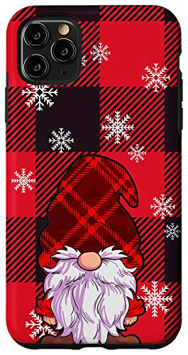 iPhone 11 Pro Max Christmas Phone Case Red Buffalo Plaid Gnomes Snowflake Case
