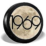 Copertura Per Pneumatici Apollo 11 50Th Anniversary 1969 Moon Spare Wheel Copertura Per Pneumatici In Poliestere Copriruota Universale Per Suv Rimorchio Camion Rimorchio Accessori Da Viaggio Camp
