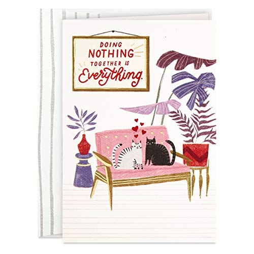 Hallmark Good Mail Valentines Day Card for Significant Other (Doing Nothing Together)