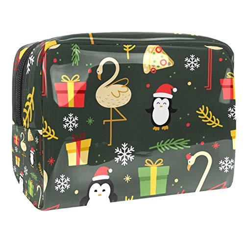 Watercolorwinter Penguin 18,5 x 7,5 x 13 cm Estuche de maquillaje cosmético bolsa de cosméticos para mujer bolsa de viaje impermeable bolsas de maquillaje