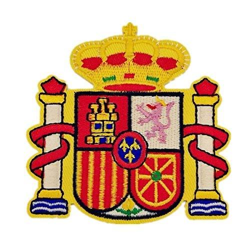 BANDERA DEL PARCHE BORDADO PARA PLANCHAR O COSER (Escudo Español)