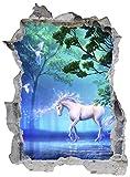 Einhorn Zauberwald Fabelwesen Wandtattoo Wandsticker Wandaufkleber E0446 Größe 46 cm x 62 cm