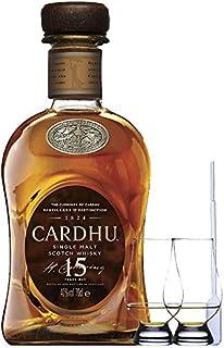 Cardhu 15 Jahre Single Malt Whisky 0,7 Liter  2 Glencairn Gläser  Einwegpipette 1 Stück