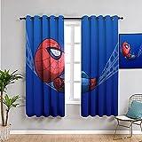 Cortinas de dormitorio abstractas coloridas mini lindo Spiderman balanceo en un columpio decoración del hogar tablero aislante 157,5 x 182,8 cm