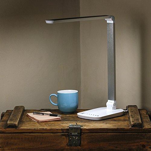 Lámpara LED de escritorio sensible al tacto para personas con discapacidad visual