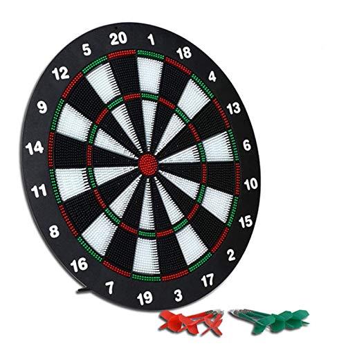 TYUXINSD Genau 16-Zoll-Sicherheits-Dart-Platine-Spielset mit 6 Soft-Tip-Darts, Indoor-Outdoor-Party-Spiele, Sportgeschenke für Kinder und Erwachsene, leicht hängen überall, schwarz (Color : Black)