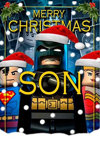Tarjeta de Navidad para hijo - Batman Lego