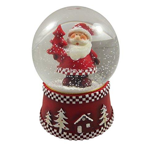 Gisela Graham-Palla di neve musicale, stile tradizionale, con motivo di Babbo Natale