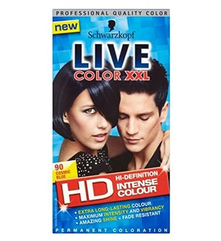 付与メインベリシュワルツコフライブカラーXxl Hd 90宇宙の青い永久青い髪の染料 (Schwarzkopf) (x2) - Schwarzkopf LIVE Color XXL HD 90 Cosmic Blue Permanent Blue Hair Dye (Pack of 2) [並行輸入品]
