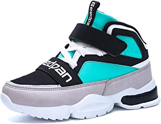 1d2340331a94 LGXH Young Boys Girls Slip On Basketball Shoes Outdoor Lightweight Big Kid  High Top Athletic Sneakers