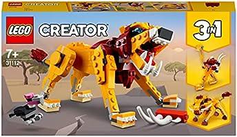 LEGO 31112 Creator 3 w 1 dziki lew, struś i guziec, zabawka dla dzieci
