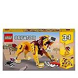 LEGO31112Creator3 en 1LeónSalvaje,AvestruzyJabalí, SetdeConstrucción,AnimalesdeJugueteparaNiños