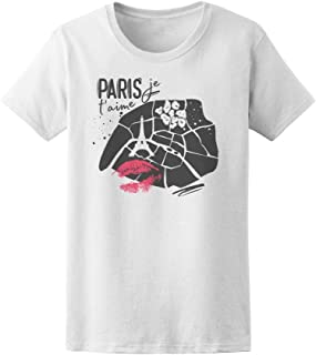 Abstract Paris Je T'aime Eiffel Tower Tee Women's -Image by Shutterstock