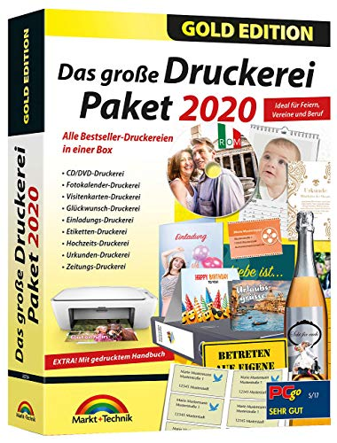 Markt + Technik Das große Druckerei paket 2020 gold edition vollversion Gold Edition