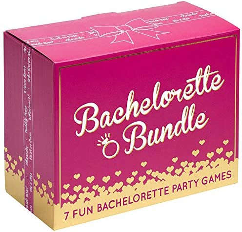 Bachelorette Bundle 7 Fun Bachelorette Party Games Bubbly Pong Quiz The Groom Bach Charades product image