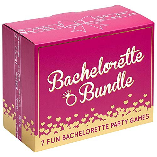 Bachelorette Bundle - 7 Fun Bachelorette Party Games (Bubbly Pong, Quiz The...
