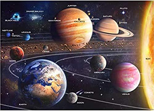 Solar System Space Puzzle für Erwachsene, 1000-teiliges Puzzle & Bonus Space Fact Poster Premium-Materialien