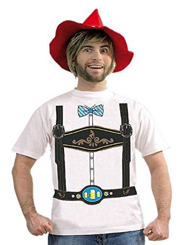 KarnevalsTeufel T-Shirt Oktoberfest Lederhosen-Shirt Oberteil Wies'n (Medium)