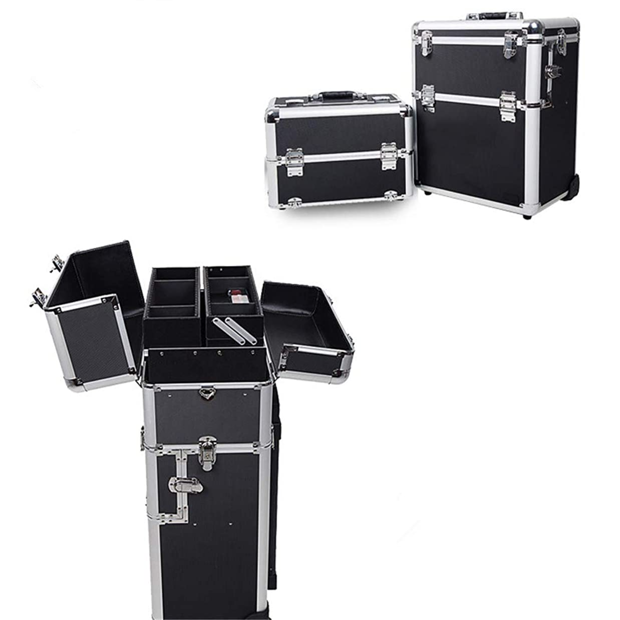 裁量インデックスマダム化粧オーガナイザーバッグ 旅行メイクバッグ3層スーツケースメイク化粧品バッグポータブルトイレタージュ化粧ケース 化粧品ケース