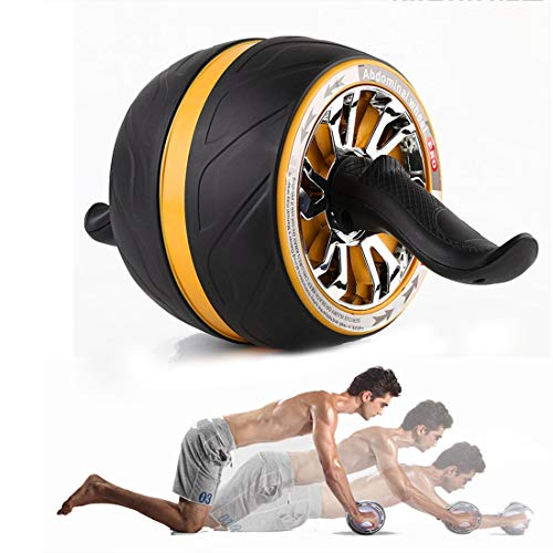 GIYL AB Roller Perfekte Fitness Roller Workout-Maschine Kern Abs Trainer Cruncher Stabile Ab Core-Trainer Maschine für Gym oder Home Use,Gelb