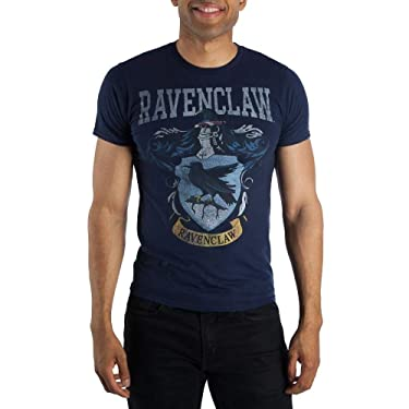Harry Potter Ravenclaw Crest Mens Navy Blue Hogwarts T-Shirt (Large)