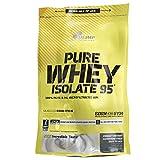 OLIMP Pure Whey Isolate 95 600g Schokolade Geschmack reines Wheyprotein-Isolat WPI ohne laktoseverzweigte Aminosäuren bcaa Muskelmasse Muskelprotein Nährstoff Muskulatur Regeneration Carving