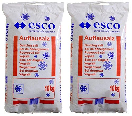 Esco Streusalz Auftausalz Tausalz Steinsalz PVC Sack - Langzeitwirkung (20 kg)