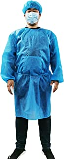 Protective Clothing Suit,Anti-Static Dust-Free Clothes Overalls Hooded with A Pair of Shoes,Male and Female Couple Models (M, Blue)