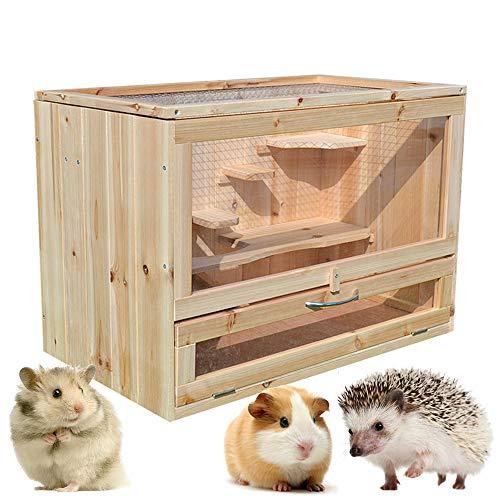 Gifty 小動物 飼育 ケージ 大型 ハムスター ゲージ 60 ハリネズミ デグー チンチラ フェレット 木製