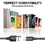 Cavo-iPhone-2Pack-3M-Caricabatterie-iPhone-Certificato-MFi-Carica-Rapida-Nylon-Cavo-Lightning-per-iPhone-1111-PROXXSXS-MaxXR88-Plus77-Plus6s6s-Plus66-Plus5c5s5-Nero