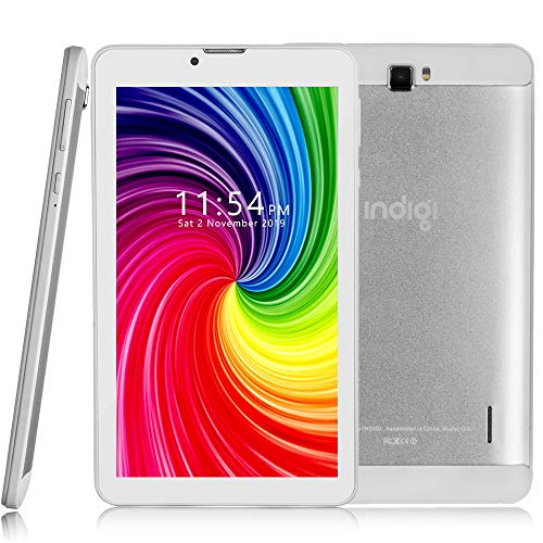 Indigi New 4G LTE 7-inch Android 9 TabletPC & Smartphone (QuadCore + DualSIM + 2GB RAM/16GB ROM + GSM Unlocked) White + 32gb microSD Included