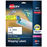 Avery Shipping Labels with Sure Feed, Print-to-the-Edge, 2' x 3-3/4', 200 White Labels (6873)
