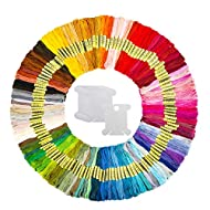Hohoto Embroidery Thread, Friendship Bracelet String, 150 Skeins Embroidery Floss with 20 Pieces Floss Bobbins for Cross Stitch kit and DIY Craft