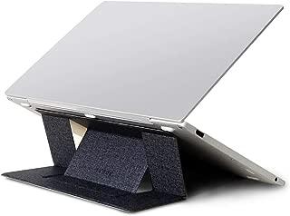 OKNAE ノートパソコンスタンド【 2019新着品 】 折り畳み式 軽量 PCスタンド 放熱 角度調整可能 取り付けやすい 携帯便利 長時間のパソコン作業猫背 肩こり ラップトップスタンド 15.6インチまで対応/ipad/macbook/タブレット 18ヶ月間メーカー保証 (ブラック)