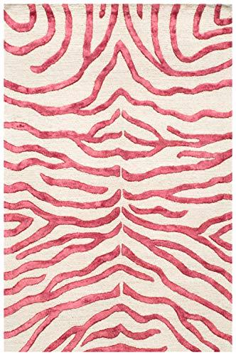 Bakero Teppich, Wolle/Viskose, Rot, 183 x 122 x 1.5 cm