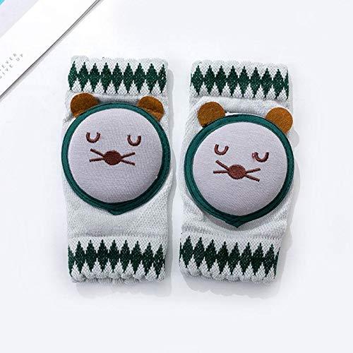 LIXUDECO Warm Socks 1 par de rodilleras de seguridad para gatear, coderas, accesorios para bebé, protector de rodilla y calentador de piernas para niñas, niños, rótula (color: G)