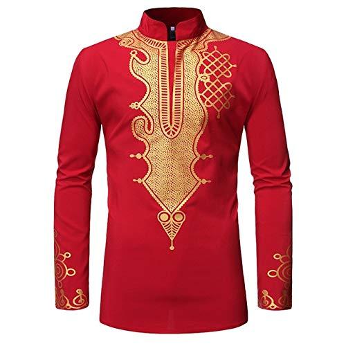 ZCMWY heren sweatshirt vintage gedrukt lange mouwen staande kraag T-shirt top blouse hoodie sweatshirt outwear blouse grote maat