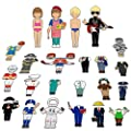 56 PCS Magnetic Dress-up Pretend Play Doll Set with 21 Occupations Jobs, Perfect for Preschool Learning from SpriteGru