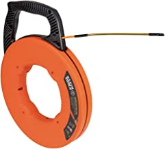 Klein Tools 56350 Fish Tape, Fiberglass Wire Puller with Spiral Steel Leader, Optimized Housing & Handle, 50-Foot