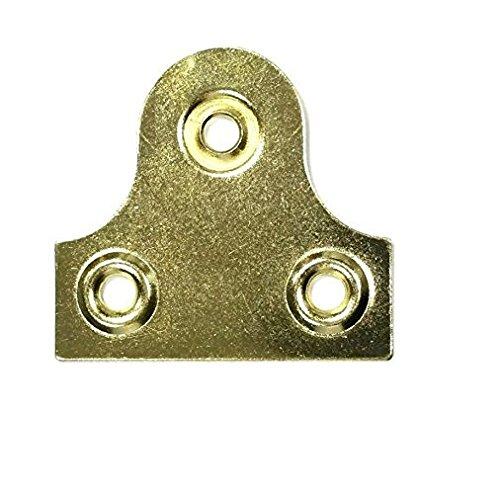 Bulk hardware BH03553-25 mm redonda de lat/ón plateado placa de cristal paquete de 25