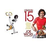Bicicleta estática con libro de recetas y ejercicios (inglés)