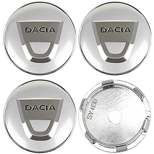 LSQJNDM para Dacia Duster Logan Sandero Lodgy, Accesorios para AutomóViles, 4 Uds, Tapas De Cubo De Centro De Rueda De Coche De 60 Mm, Pegatina De Insignia, Cubiertas A Prueba De Polvo