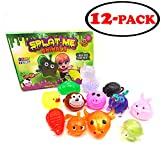 Gosu Toys Sticky Splat Balls Splat-Me Animals (12 Pack) Squishy Assortments Splat Ball Pets Stress-Reliever - Turtle, Ox, Fish, Snail, Rabbit, Unicorn, Pig, Monkey, Duck, Rat, Llama, Frog