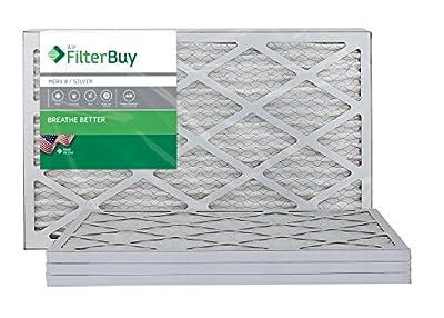 FilterBuy 14x25x1, Pleated HVAC AC Furnace Air Filter, MERV 8, AFB Silver, 4-Pack
