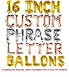 ATTENTION: You must share required character details through WhatsApp or Amazon Gift Option within 2 Hours, otherwise default letters will be shipped. (Refer Product Images for Details) EASY TO INFLATE & HANG: These alphabet decoration balloons have ...