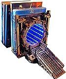 Sujetalibros Galaxy Gate, Galaxy Gate Bidireccional, Sujetalibros De Portal con Luz Led, Sujetalibros Decorativo Soporta Tapones Antideslizantes para Libros Soporte para Estantería