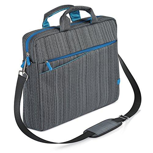 CSL - Borsa per Notebook Fino a 17,3 Pollici 33,9 cm - Custodia per Laptop Tracolla - Imbottita e Resistente allo Sporco e all Acqua