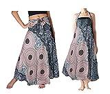 Falda Larga Mujer Playa Vestido Verano Bohemio Gitano Hippie Vestido Halter Vestido Fiesta Boho Chic Falda Cintura Alta Elástico Dobladillo Asimétrico Vestido A línea
