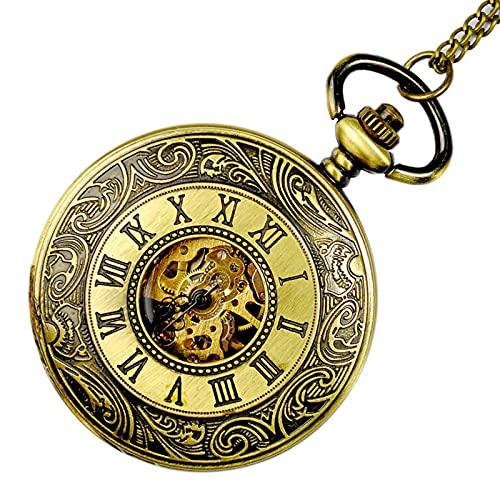 XGJJ Reloj de Bolsillo para Hombre con Cadena Navidad Graduación Regalos de cumpleaños Collar Reloj de Bolsillo