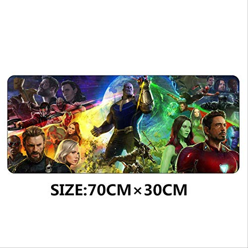 AMZIJ Mauspad 70 x 30 cm Mauspad Avengers Infinity War Anime Gaming XL Large Grande Mauspad Gamer Keyboard Pad 1